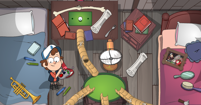 Gravity Falls Golf in the Attic